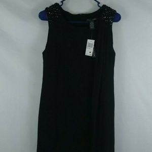 NWT Chelsea & Theodore Little Black Sequin Dress